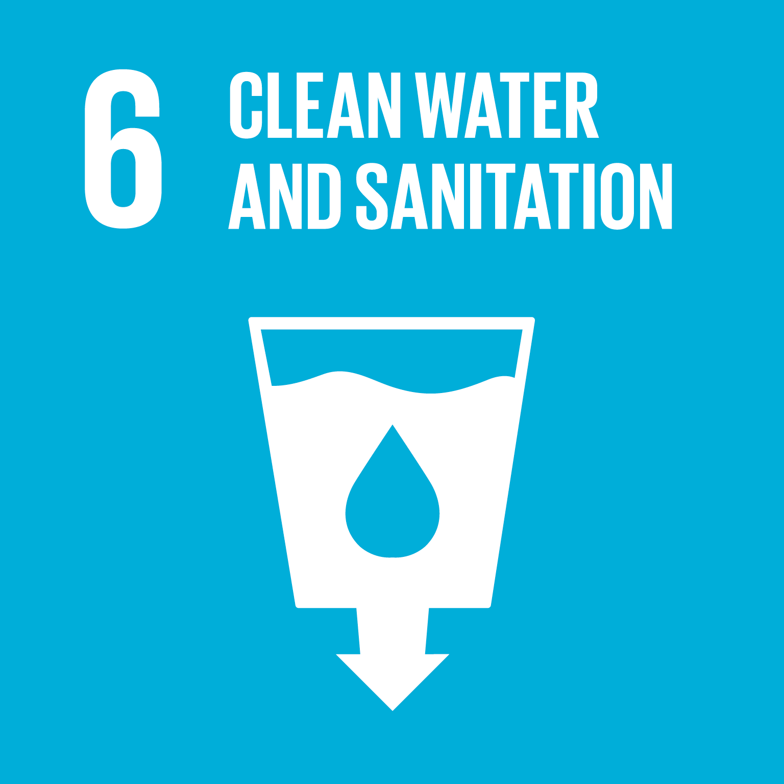Clean water and sanitation logo.