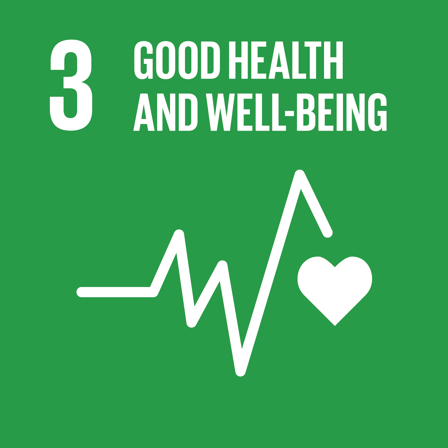 Logo for: Good Health and Well-Being