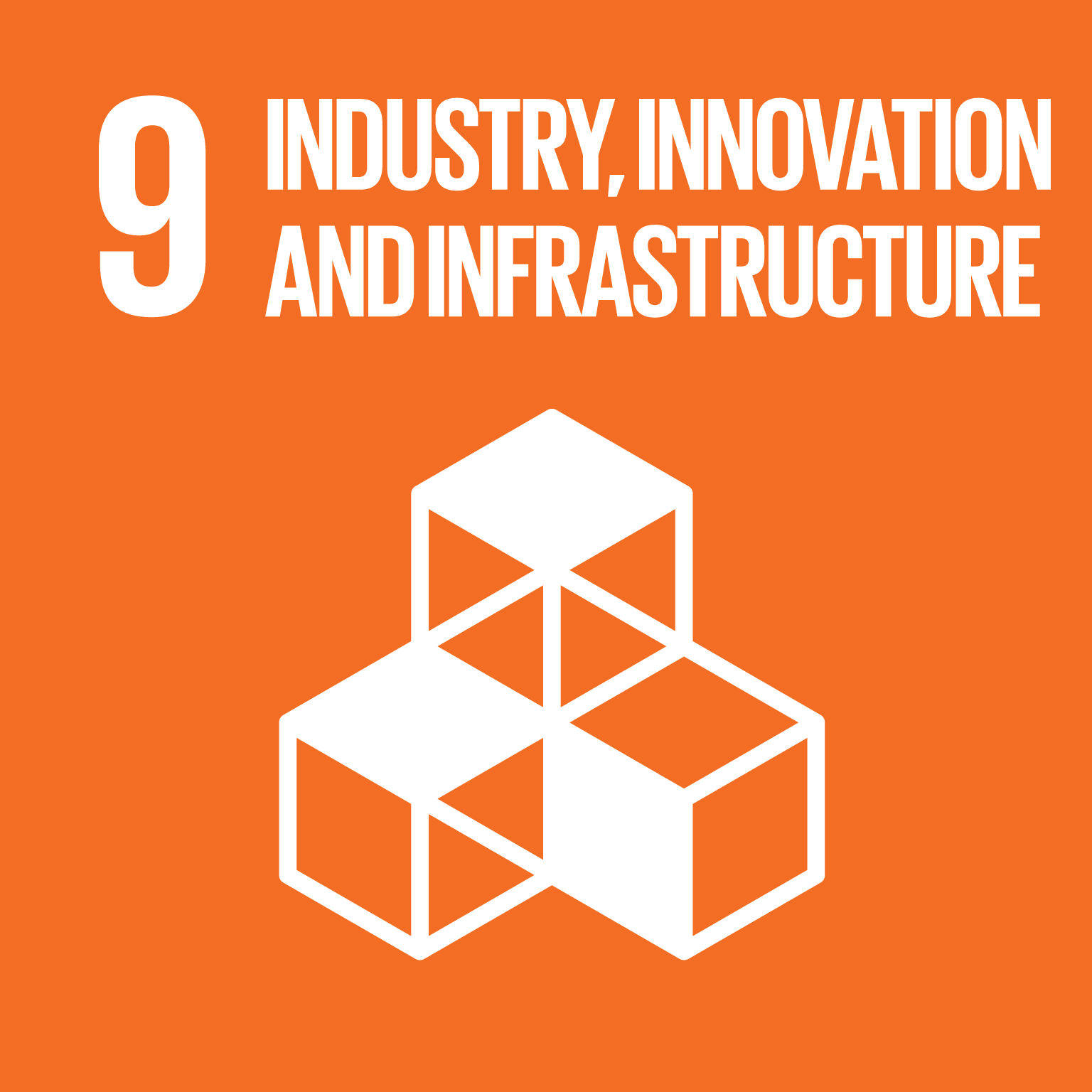 Industry, innovation and infrastructure logo.