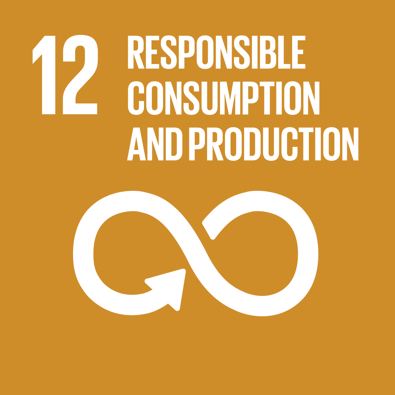 Responsible consumption and production logo.